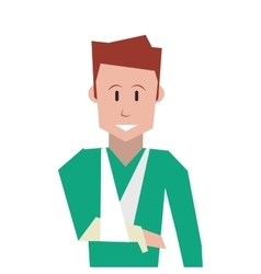 Man with broken arm icon vector