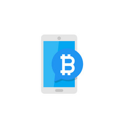 mobile payment with bitcoin vector image vector image