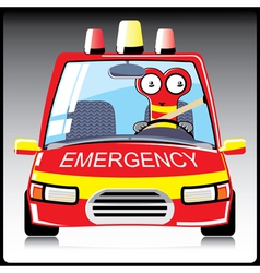 monster a in emergency car vector image vector image