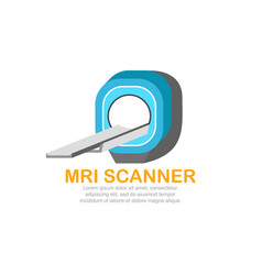 mri scanner logo template vector image vector image