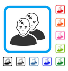 Patients framed dolor icon vector