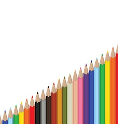 Pencils palette background vector image