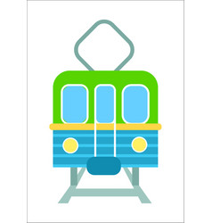 railway transport isolated icon vector image vector image