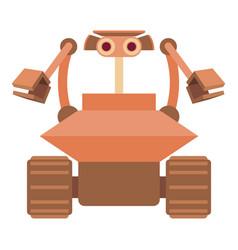 robot collector icon cartoon style vector image