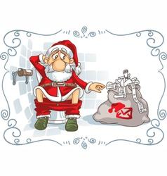 Santa is in trouble vector