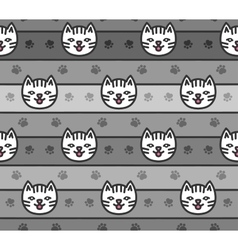 Seamless pattern of cats heads vector