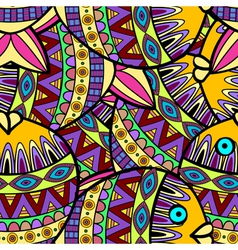 Seamless pattern ornamental background vector image