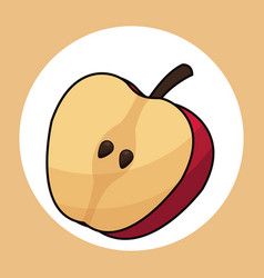 slice apple healthy fresh image vector image