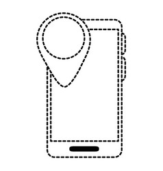 smartphone device with pointer location vector image