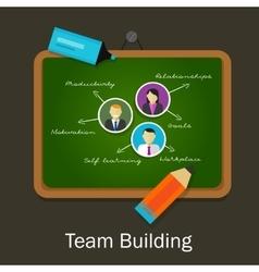 Team work building human resource recruitment vector