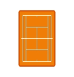 Tennis court icon vector