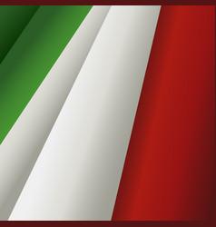 Waving italian flag vector