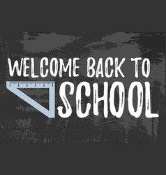 welcome back to school typographic vector image vector image