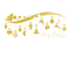 Beige golden wavy border with 12 hanging vector image