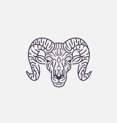 Goat Flat Line vector image