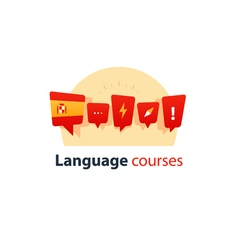 Spanish language courses advertising concept vector