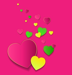 Valentines day card with colorfull hearts vector