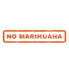 No marihuana rubber stamp vector