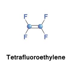tetrafluoroethylene fluorocarbon monomer vector image