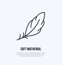 Feather flat line icon sign for soft vector