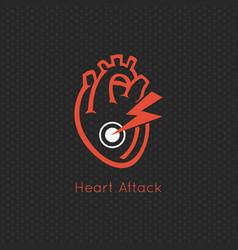 Heart attack logo icon design vector