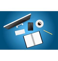 Creative workspace vector image