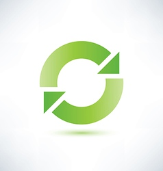 Abstract circle symbol recycle icon vector