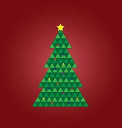 Geomestric xmas tree vector