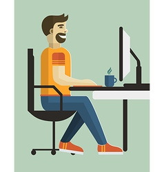 Man in office design vector
