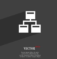 Local network icon symbol flat modern web design vector