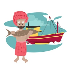 Fisherman preview vector