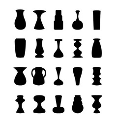 Different slyle of vases vector