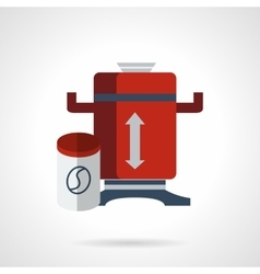 Red coffee grinder flat icon vector