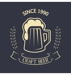 Craft brewing emblem vintage style vector