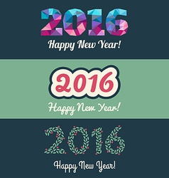 Set of website banners with 2016 happy new year vector