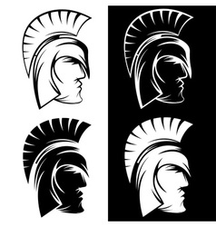 Spartan warrior set design template vector