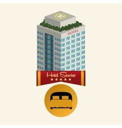 Hotel design travel icon isolated and flat vector