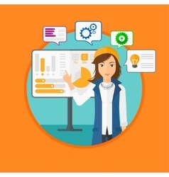 Woman making business presentation vector