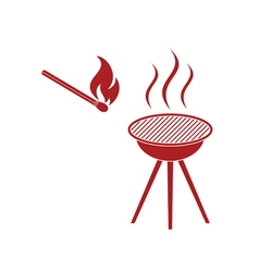 Barbecue matches icon vector