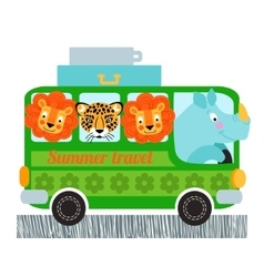 Green bus design vector