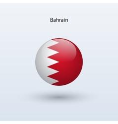 Bahrain round flag vector