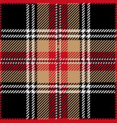 black tartan plaid seamless pattern vector image