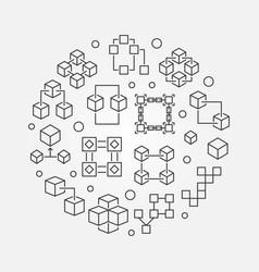 block chain technology symbol blockchain vector image