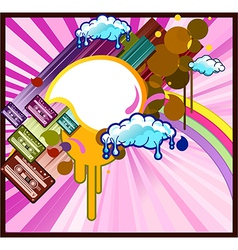 Color cassette design vector image vector image