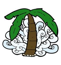 Comic cartoon palm tree symbol vector