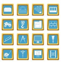 construction icons azure vector image