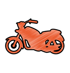 custom vintage motorcycle vector image