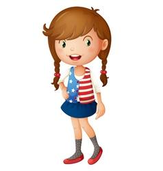Cute girl vector