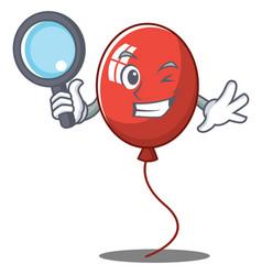 Detective balloon character cartoon style vector