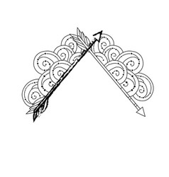 figure cute arrows element with ornamental design vector image vector image